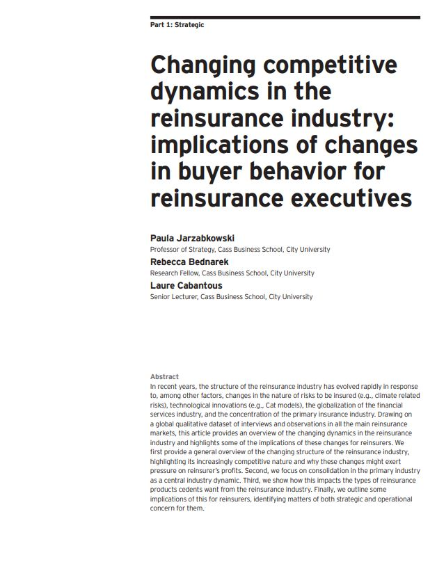 Changing competitive dynamics in the reinsurance industry: implications of changes in buyer behavior for reinsurance executives